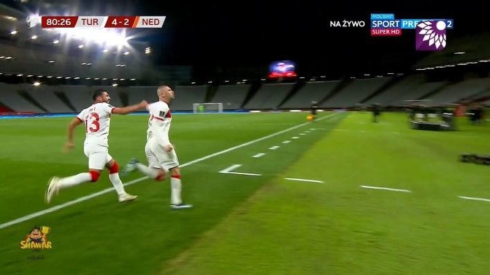 شاهد الهدف الرابع ( 4-2 ) لصالح تركيا في شباك هولندا