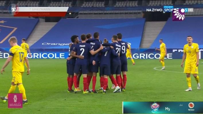 شاهد الهدف الاول ( 1-0 ) لصالح فرنسا في شباك اوكرانيا