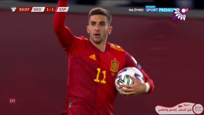 شاهد هدف التعادل ( 1-1 ) لصالح اسبانيا في شباك جورجيا