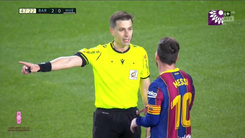 شاهد الهدف الاول (1 – 2) لصالح هويسكا في شباك برشلونة