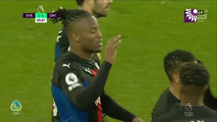 شاهد هدف التعادل (1 – 1) لصالح كريستال بالاس في شباك إيفرتون