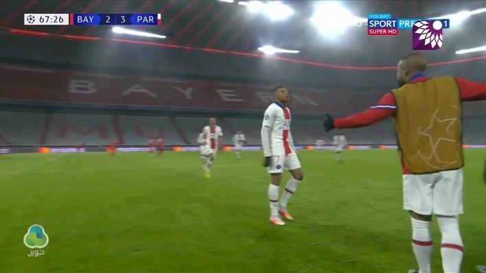 شاهد الهدف الثالث (3 – 2) لصالح باريس سان جيرمان في شباك بايرن ميونيخ