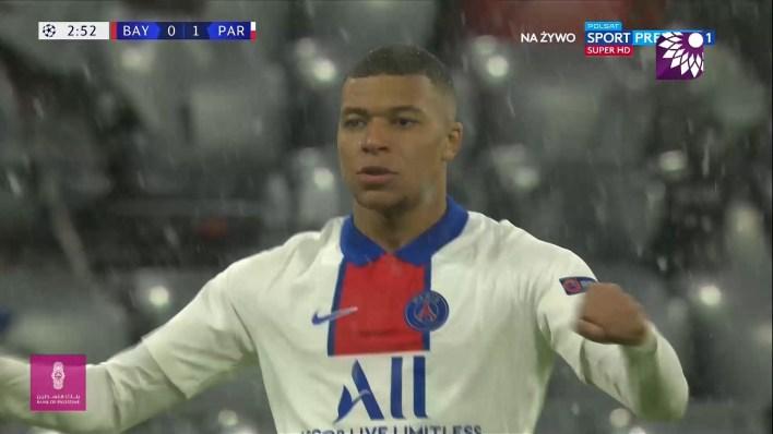 شاهد الهدف الاول (1 – 0) لصالح باريس سان جيرمان في شباك بايرن ميونيخ