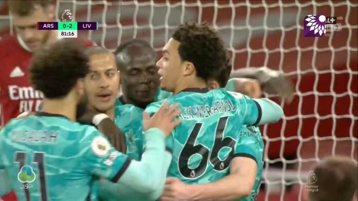 شاهد الهدف الثاني (2 – 0 ) لصالح ليفربول في شباك ارسنال