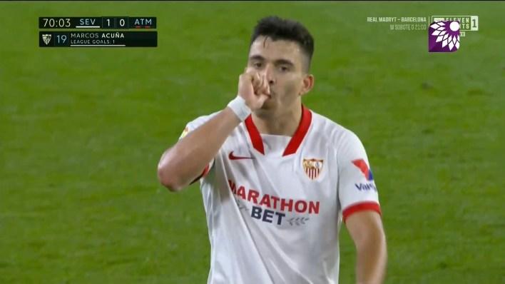 شاهد الهدف الاول ( 1-0 ) لصالح اشبيلية في شباك اتلتيكو مدريد
