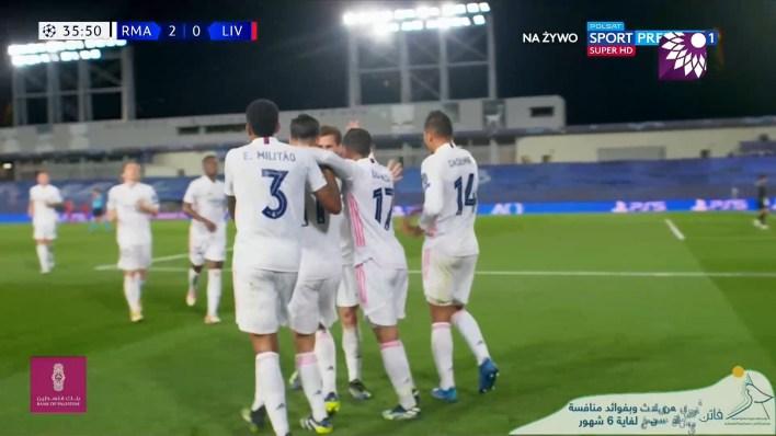 شاهد الهدف الثاني ( 2-0 ) لصالح ريال مدريد في شباك ليفربول