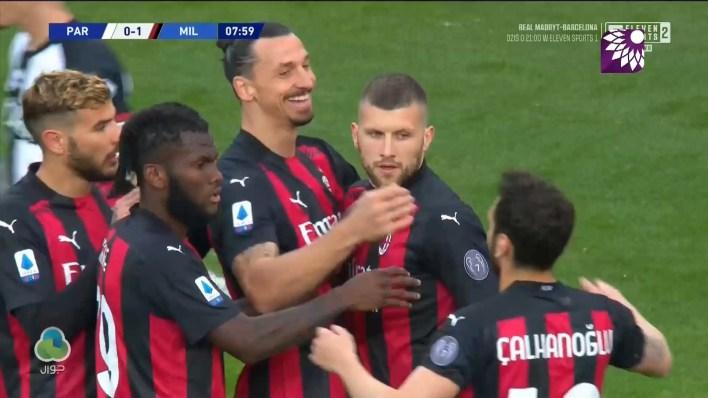شاهد الهدف الاول ( 1-0 ) لصالح ميلان في شباك بارما
