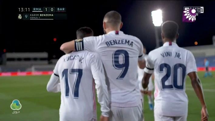 شاهد الهدف الاول ( 1-0 ) لصالح ريال مدريد في شباك برشلونة