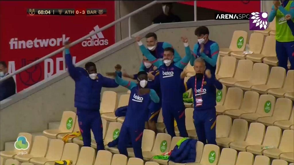 شاهد الهدف الثالث (3-0 ) لصالح برشلونة في شباك اتلتيك بلباو