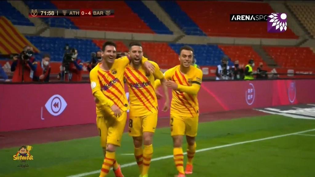 شاهد الهدف الرابع (4-0 ) لصالح برشلونة في شباك اتلتيك بلباو