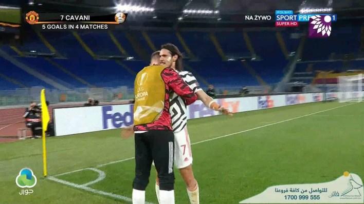 شاهد هدف التعادل الثاني ( 2-2 ) لصالح مانشستر يونايتد في شباك روما