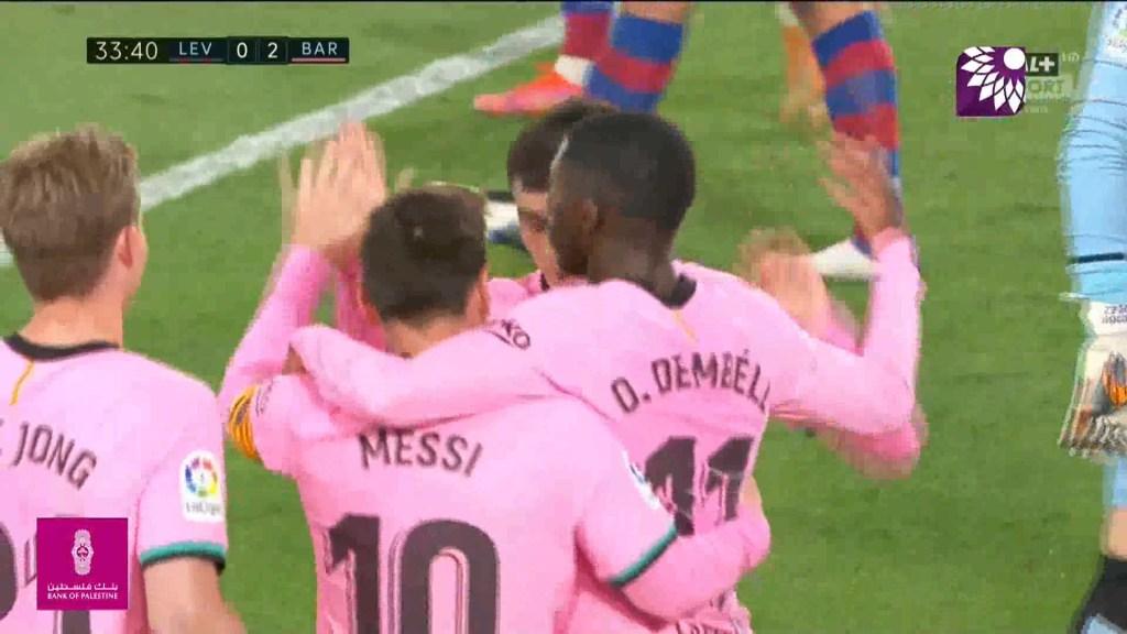 شاهد الهدف الثاني ( 2-0 ) لصالح برشلونة في شباك ليفانتي