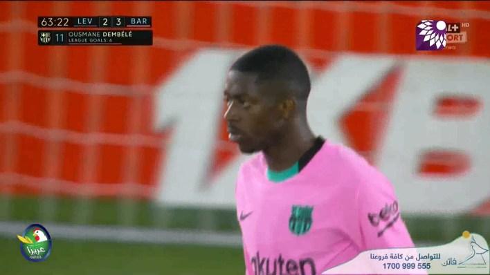 شاهد الهدف الثالث ( 3-2 ) لصالح برشلونة في شباك ليفانتي