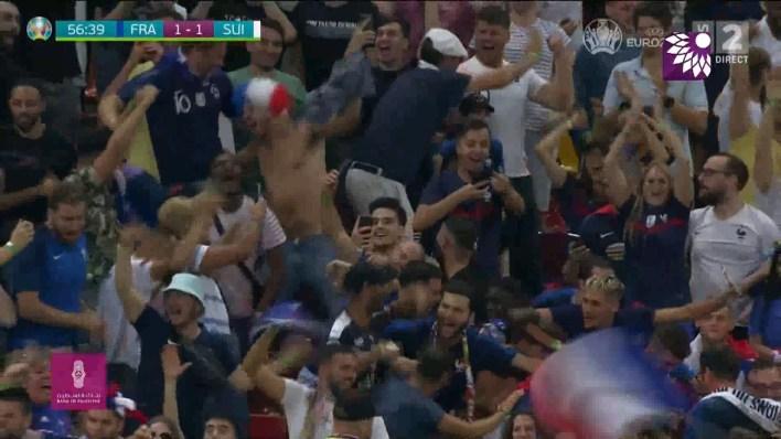 شاهد هدف التعادل (1 – 1) لصالح فرنسا في شباك سويسرا