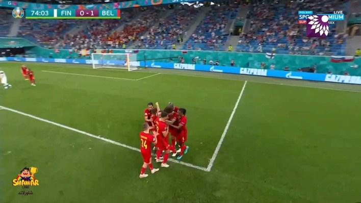 شاهد الهدف الاول (1 – 0) لصالح بلجيكا في شباك فنلندا