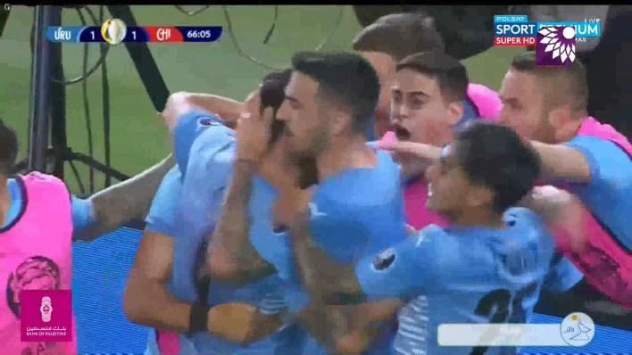 شاهد هدف التعادل (1 – 1) لصالح أوروغواي في شباك تشيلي