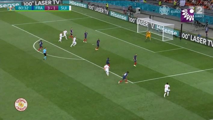 شاهد الهدف الثاني (2 – 3) لصالح سويسرا في شباك فرنسا