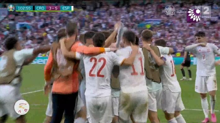 شاهد الهدف الخامس (5 – 3) لصالح اسبانيا في شباك كرواتيا