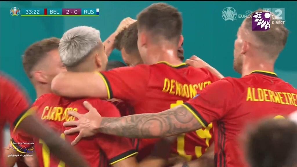 شاهد الهدف الثاني ( 2-0 ) لصالح بلجيكا في شباك روسيا