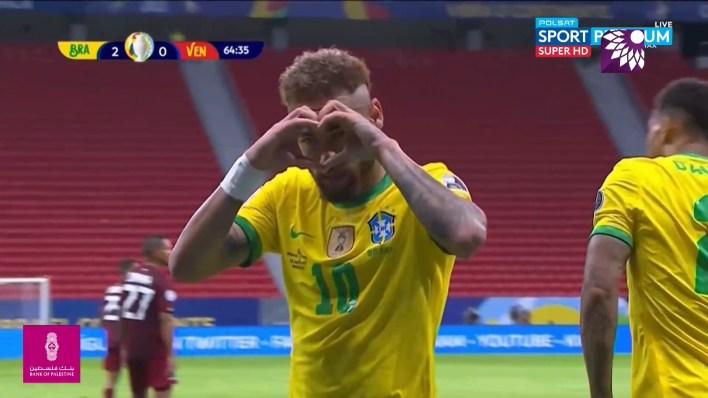 شاهد الهدف الثاني ( 2-0 ) لصالح البرازيل في شباك فنزويلا
