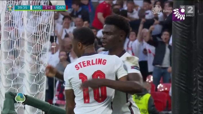 شاهد هدف التعادل (1-1) لصالح انجلترا في شباك الدانمارك
