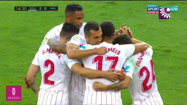 شاهد الهدف الثاني (2-0) لصالح اشبيلية في شباك فالنسيا
