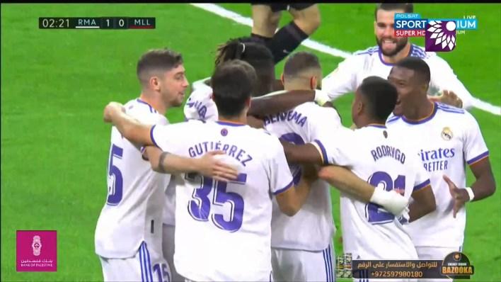 شاهد الهدف الاول (1-0) لصالح ريال مدريد في شباك ريال مايوركا
