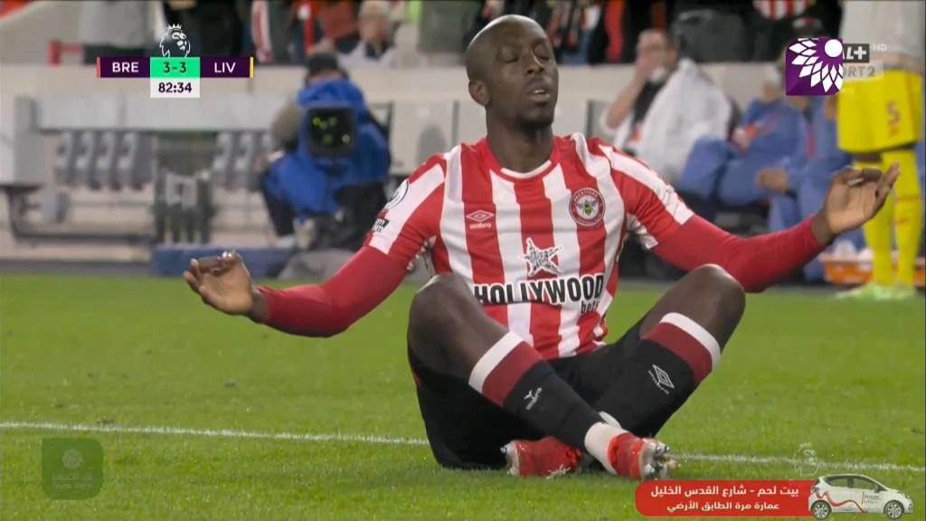 شاهد هدف التعادل الثالث (3-3) لصالح برينتفورد في شباك ليفربول