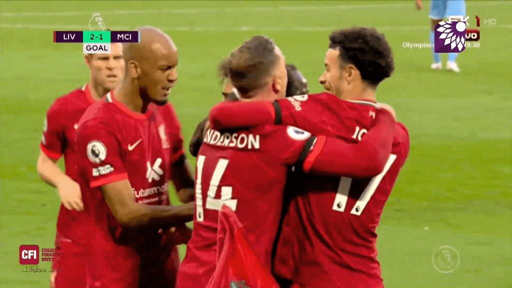 شاهد الهدف الثاني (2 – 1) لصالح ليفربول في شباك مانشستر سيتي