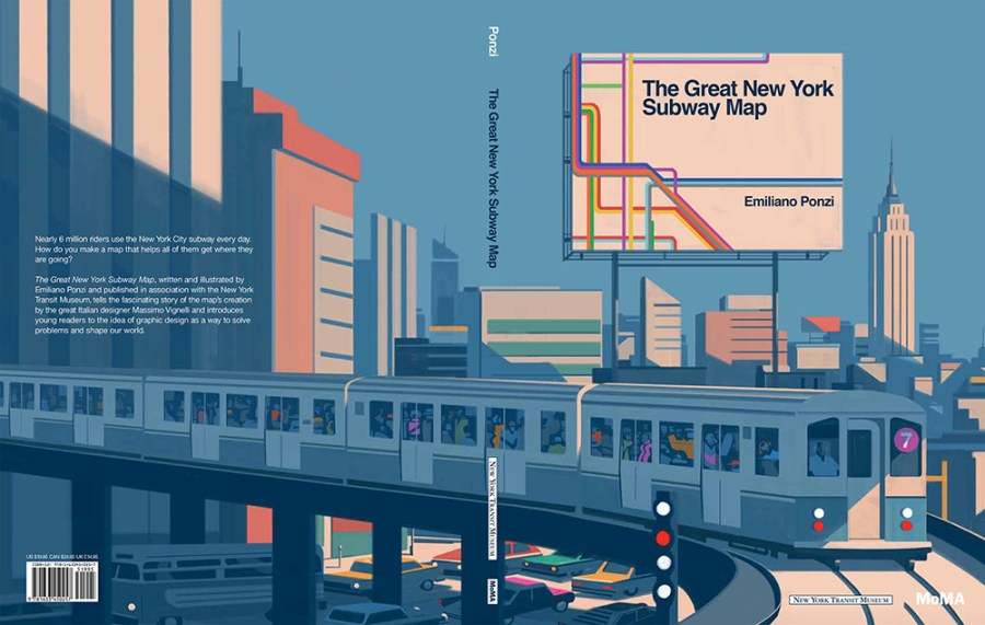 The Great New York Subway Map by Emiliano Ponzi and MoMA