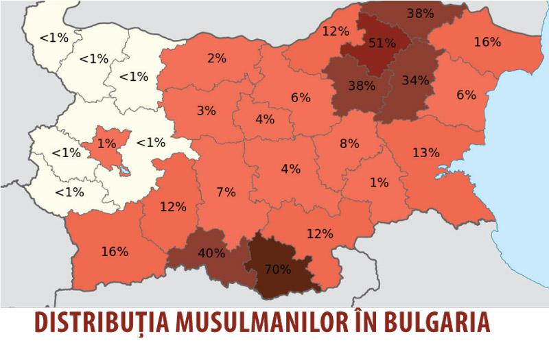 bulgaria distributie musulmani