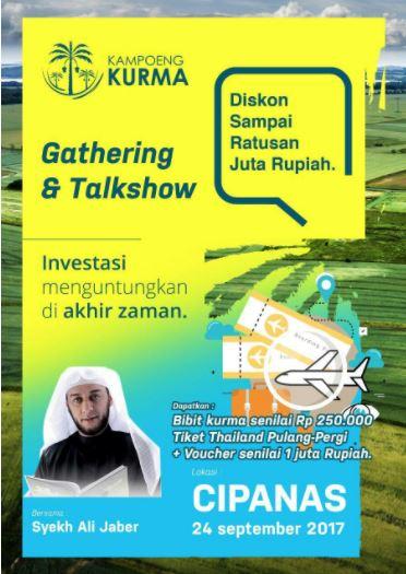 Gathering Peminat Kampung Kurma Cipanas 24 September 2017