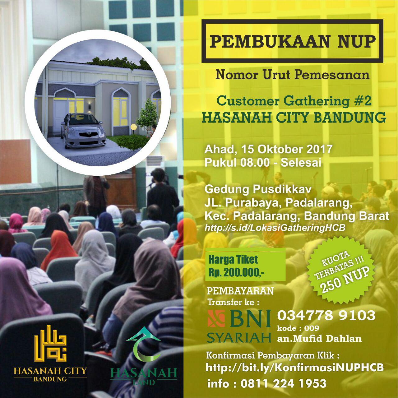 Pembukaan Pendaftaran NUP Mega Gathering Hasanah City bandung15Oktober2017