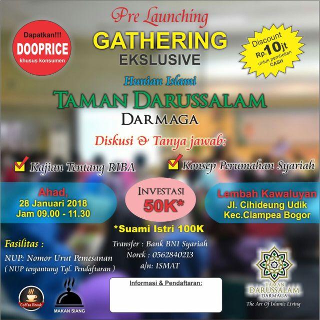 Gathering perdana Perumahan Taman Darussalam Darmaga Bogo