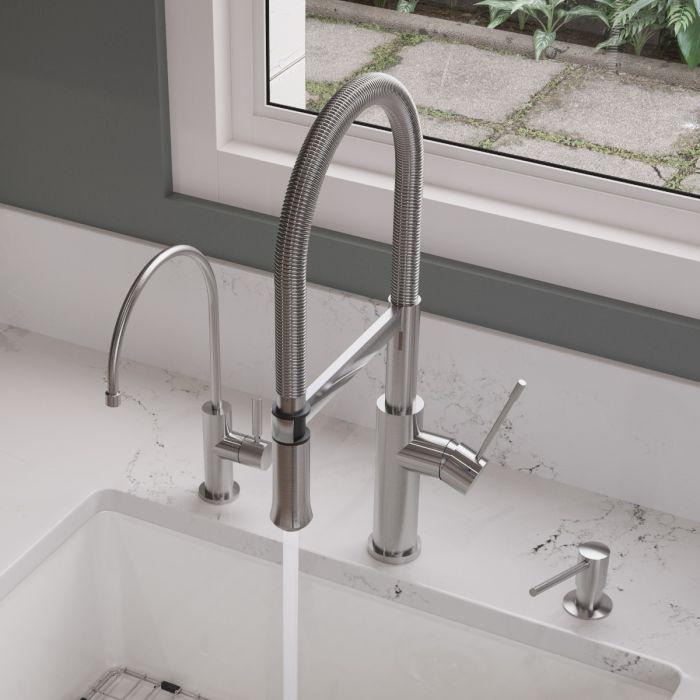 alfi brand ab2015 brushed gooseneck single hole kitchen faucet