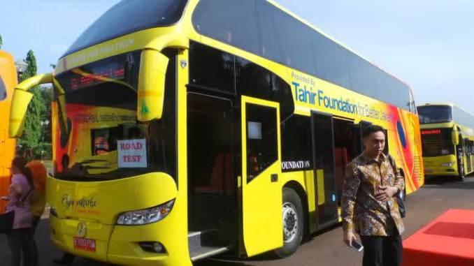 Ini Dia Bus Tingkat Gratis Yang Akan Mengangkut Para Pemotor Di