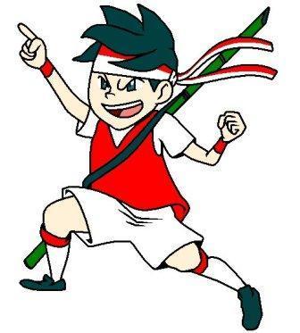 Cartoon Bendera Indonesia