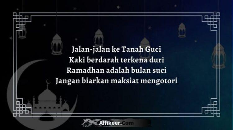 Pantun Bulan Ramadhan Tiba