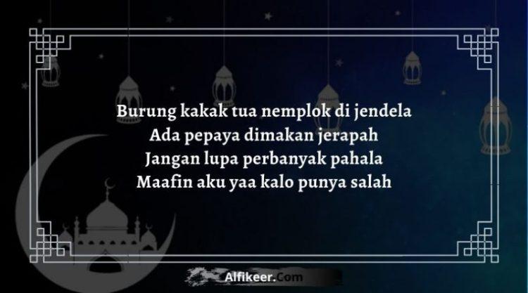 Pantun Ramadhan Minta Maaf