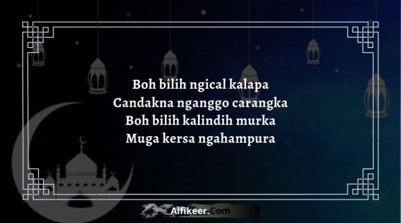 Pantun Lebaran Bahasa Sunda