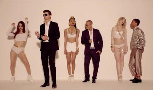 Robin Thicke Blurred Lines T.I. Pharrell