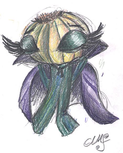 Boceto Cebolla Vampira Triste