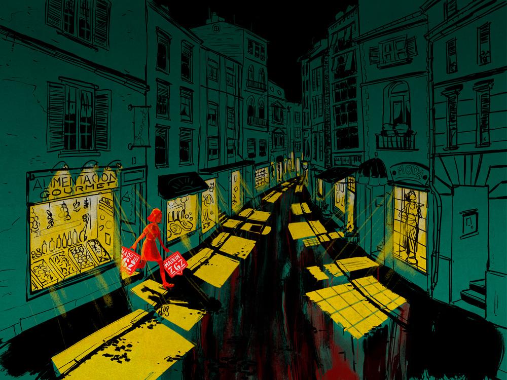 ilustración Tiendas de Luz