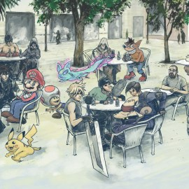 Videogame Characters Cafe