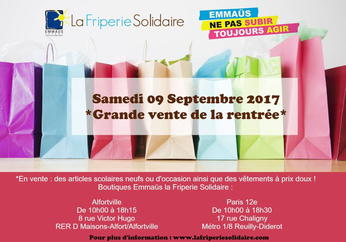 Friperie solidaire emmaus Alfortville
