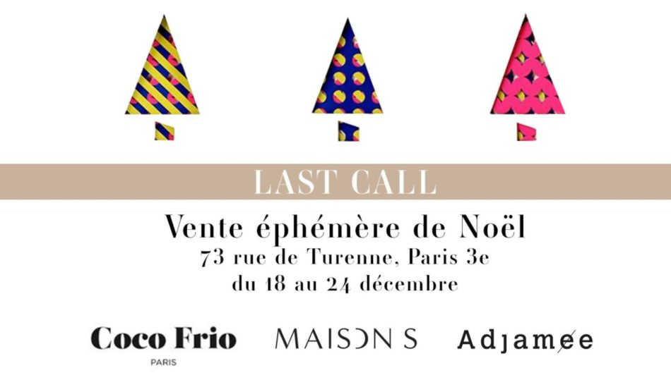 Vente éphémère de Noël Pop up store Paris
