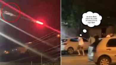 Photo of Harto de sus vecinos borrachos los ataca con dron y bengalas