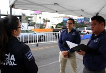 operativo de sindicatura edn carriles de pases médicos de garita de San Ysidroi