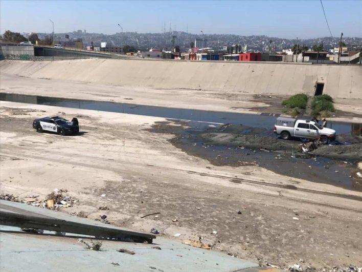 Policía Municipal halla restos humanos en la canalización del Río.
