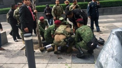Photo of [VIDEO] Paracaidista de la Marina se accidenta en el desfile militar